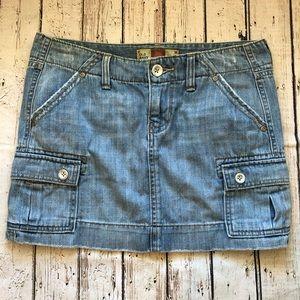 Old Navy Light Wash Ultra Low Waist Denim Skirt